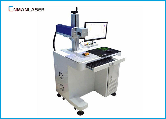 20W 30W Plastic Bottle Wood CO2 Laser Marking Machine With 110*110mm Alloy Table