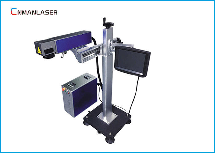 Double Red Light Laser Marker Machine For Acrylic Bamboo , 7000mm/S Speed