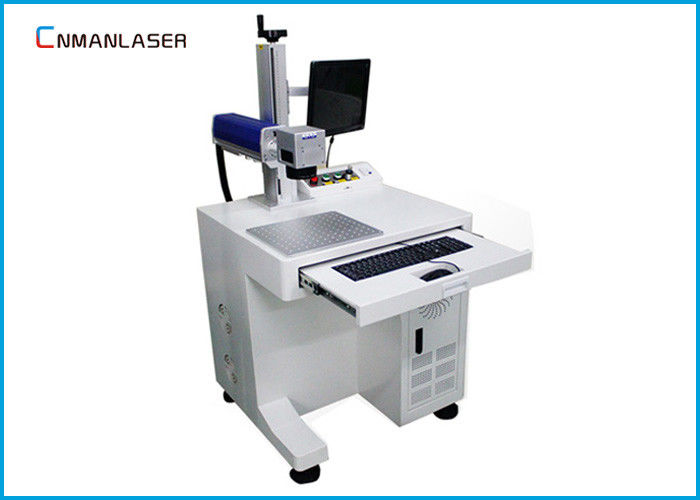 PVC PPR HDPE Pipe 20w Fiber Laser Marking Machine With Smoke Purifier