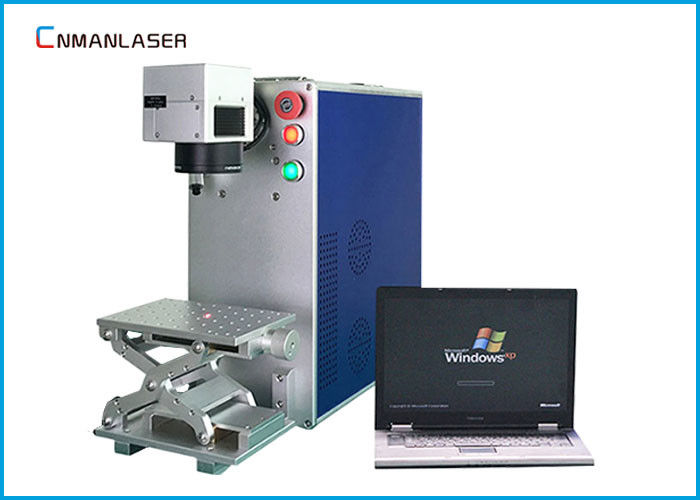 Economic Smart Name Card Metal Laser Marking Machine With Lenovo Computer