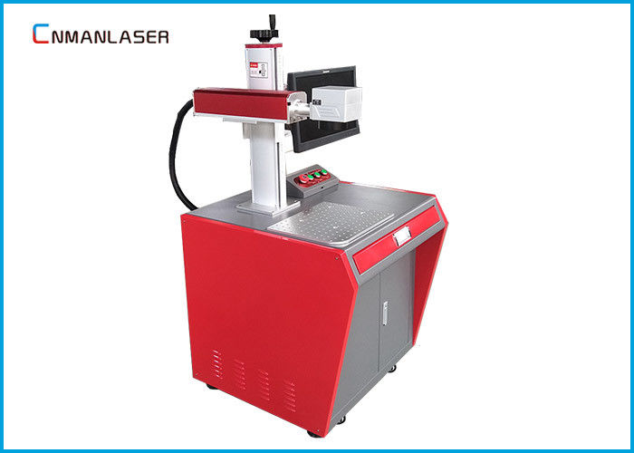 Table Top 20w Laser Marking Machine , Fiber Laser Marking System For Instruments Dishware