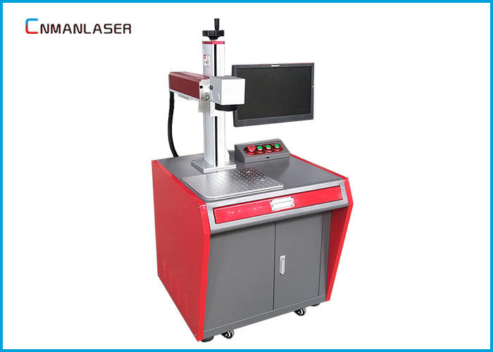 2D Working Table Fiber Laser Marking Machine With Computer , Raycus Max Sources 20w