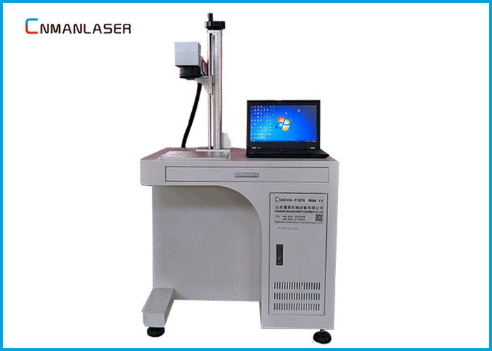 Metal Nonmetal Fiber Laser Engraver Marking Machine 20w With Computer Display