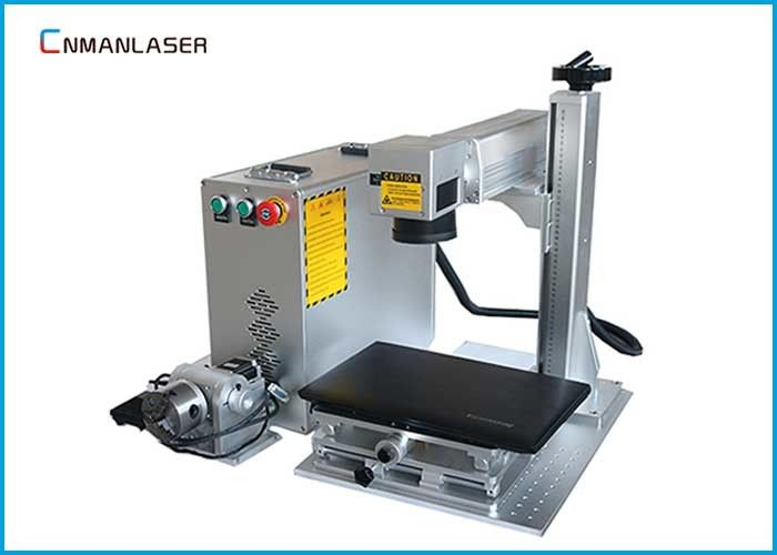 Professional Button Metal Logo Desktop Fiber Laser Marking Machine CE FDA SGS